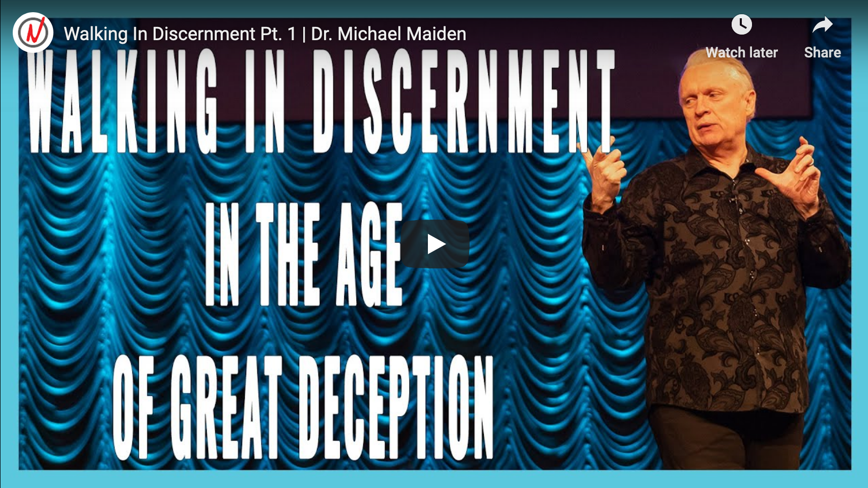 Walking in Discernment in the Age of Great Deception Part 1