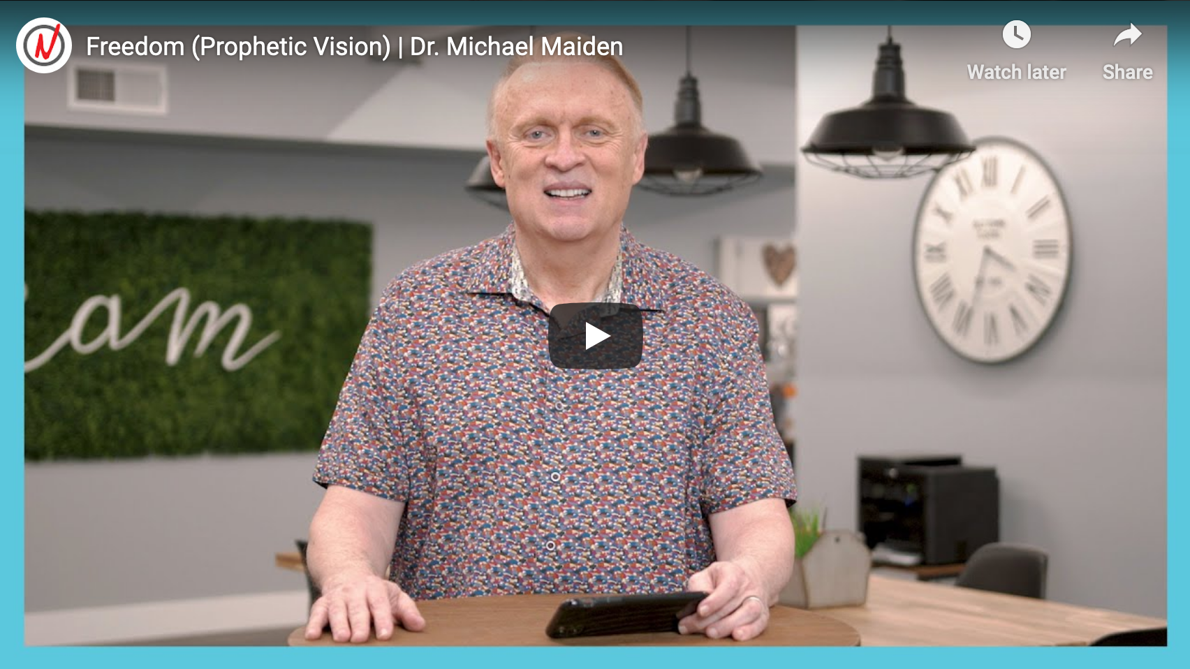 Prophetic Vision: Freedom